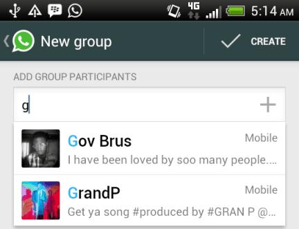 create whatsapp group