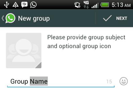 adding group name
