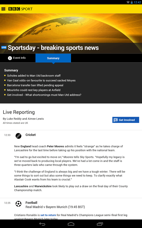 bbc sport app for android and ios